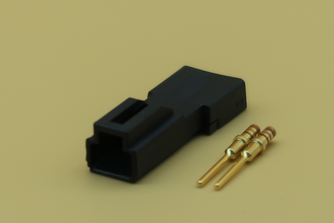 MICRO DTM CONNECTOR MALE 2 PIN