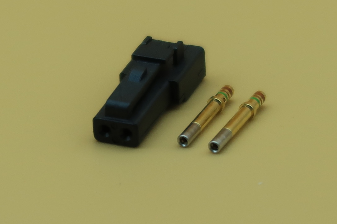 MICRO DTM CONNECTOR FEMALE 2 PIN