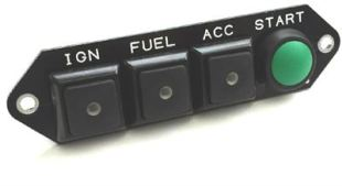 CARTEK PDM Switch Panel 4W (black + START, marked)