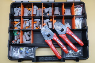 MOTORSPORT ELECTRICAL REPAIR KIT WITH 16# & 20# CRIMPERS